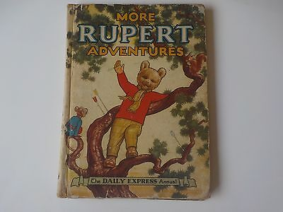 More Rupert Adventures. The Daily Express Annual. 1952 Book.