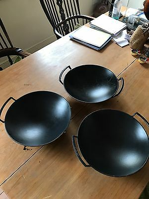 Le Creuset Granite Grey Cast Iron Wok With Glass Lid