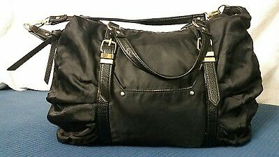 Steve Madden Black Hobo Tote Shoulder Purse/Handbag