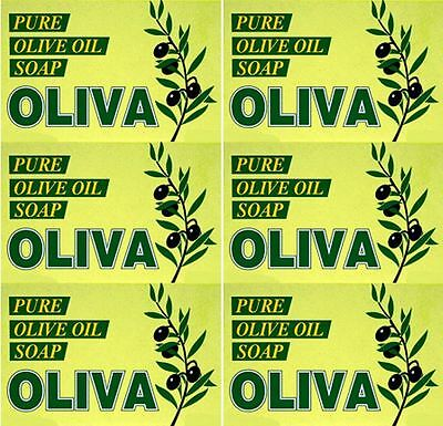 SIX PACKS of Oliva Olive Oil Soap 125g
