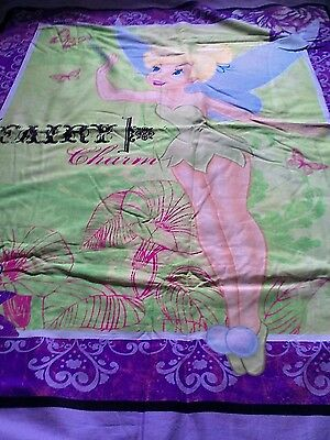 handmade quilted tinker bell blanket and a tinker bell bag
