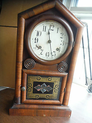 New Haven Clock Co. Antique Vintage Clock  w/key, not functional, 1890