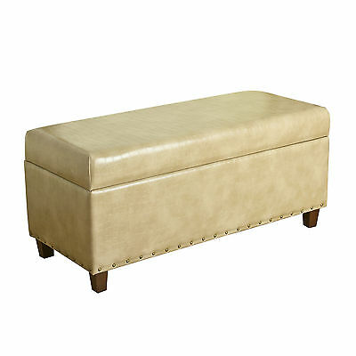 Branford Faux Leather Storage Bedroom Bench HomePop FREE SHIPPING (BRAND NEW)