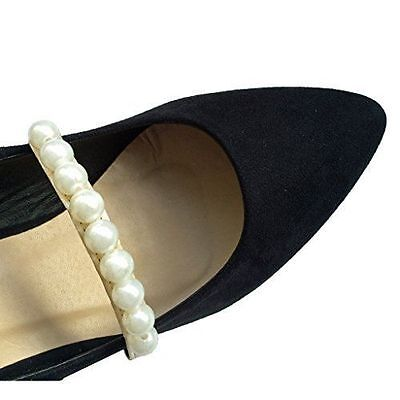 Elasticated Shoe Straps, Shoe Decoration, Wedding Accessories - Satin & Pearls