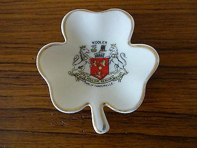 Arcadian China Model of a Clover Leaf with Earl of Tankerville Crest