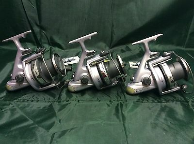 3 X Daiwa Emblem X Reels Big Pits Carp Fishing Gear Set Up