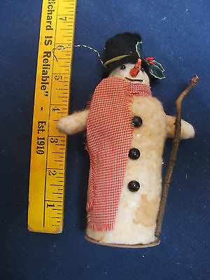 Snowman Candy Container Vintage