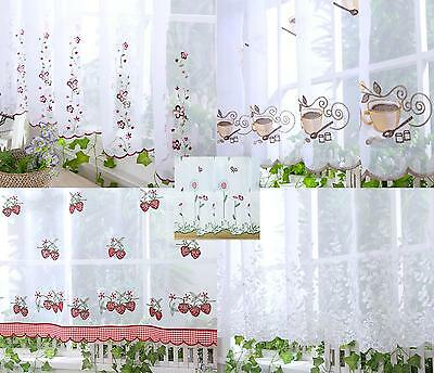 """5  Designs White Voile Cafe Net Kitchen Curtains Decoration 18"""" 24"""" Sold By Mtr"""