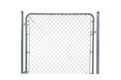 Gate Kit Hardware Expandable Design Chain Link Fence Heavy Duty Steel Frame New