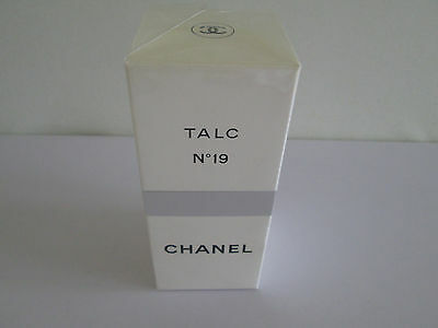 *WOW* GENUINE CHANEL No 19 PERFUMED TALC 150g UNUSED PART SEALED VINTAGE 1980s