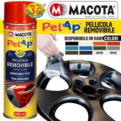 Vernice Removibile MACOTA PELAP Pellicola Spray 500ml Wrapping Tuning Cerchi Aut