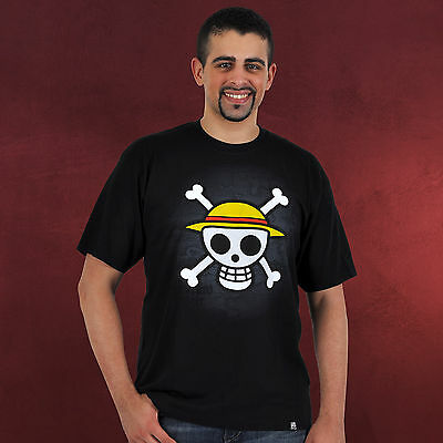 """ONE PIECE - Tshirt """"Skull with map"""" (S)"""