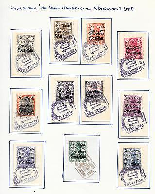 German Occ Poland/WLOCLAWEK stamps 1918 Collection of 11 LOCAL stampsHIGH VALUE!