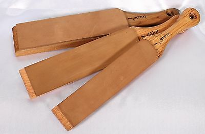 Leather strop for sharpening, finishing blades of knives Razor strop Stryi