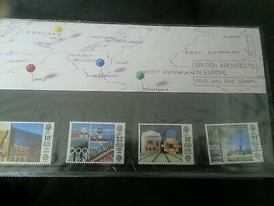 British Architects In Europe 1987   Set Of Royal Mail  Mint Gb Stamps