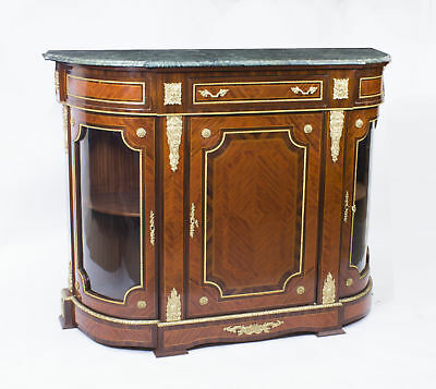 Magnificent Victorian Style Walnut & Rosewood Credenza 20th C