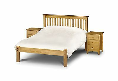 Julian Bowen Barcelona Solid Wood Bed Frame 4FT Small Double 120cm Antique Pine