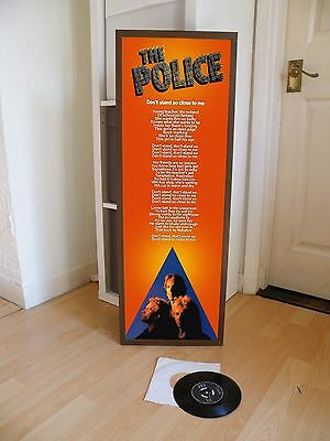 The Police Dont Stand So Close To Me Promotional Poster Lyric Sheet,pop Rock