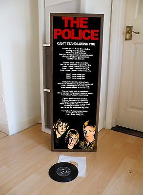 The Police Can't Stand Losing You Promotional Poster Lyric Sheet,pop Rock