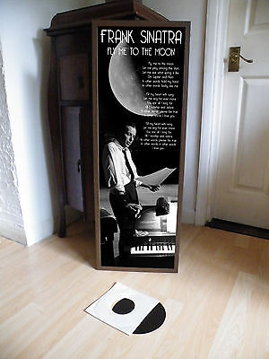 Frank Sinatra Fly Me To The Moon Promotional Poster Lyric Sheet,pop Rock,jazz