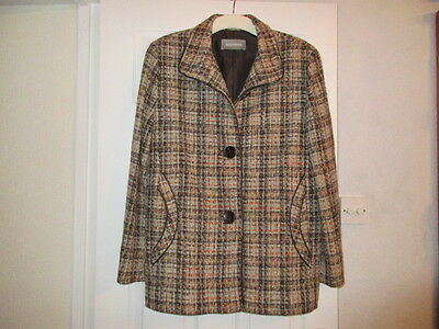 A Ladies Brown Mix Wool Jacket By Steilmann  Size  18