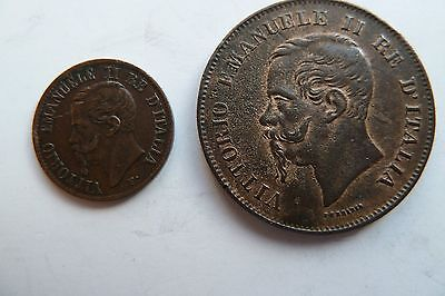 Italy 2 coins 1861-1862