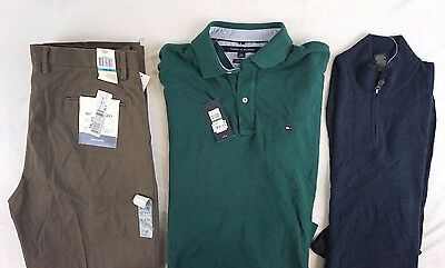 Nwt Macys Mens Lot Of 3 Tommy Hilfiger Mix Pantspolosweater