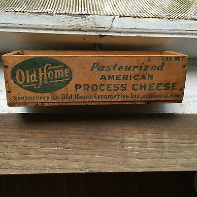 Vintage Primitive Dairy Advertising Wood Cheese Box Old Home Minneapolis MN