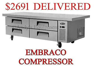 "76 inch Extended top 6 foot wide 72"" in. Chef Base Refrigerated work top station"