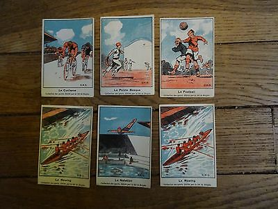 IMAGES  MENTHES RICQLES collection sport 1930 lot de 6