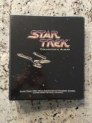 Star Trek 25th Anniversary Impel Trading Cards Series 1 & Rare Collector's Album