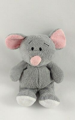 Ty Pluffies Squeakies Mouse Gray Pink TyLux Beanie Plush Stuffed Animal 2007