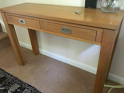 Oak Hall Console Desk Side Table