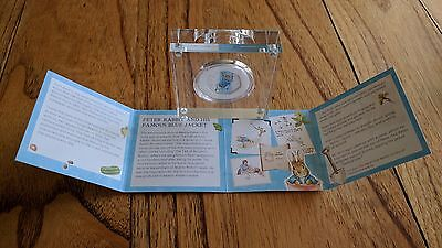 Proof 2017 Coloured Peter Rabbit Silver Proof 50p from Royal Mint Beatrix Potter