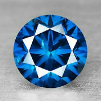 0.61 Cts Fancy Sparkling Titanic Blue Natural Loose Diamond -  SI1