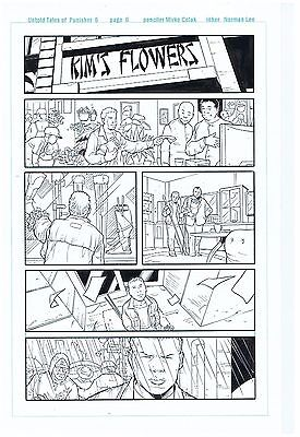 Punisher Original Published Art Untold Tales Of Punisher Max #5 Page #6