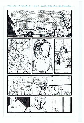 Punisher Original Art Untold Tales Of Punisher Max #5 Page #3