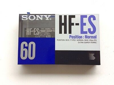 Rare Cassette SONY HF-ES 60 New Sealed Tape Made in Italy