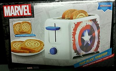 new toaster 2 slice captain america marvel logo image novelty avengers shield