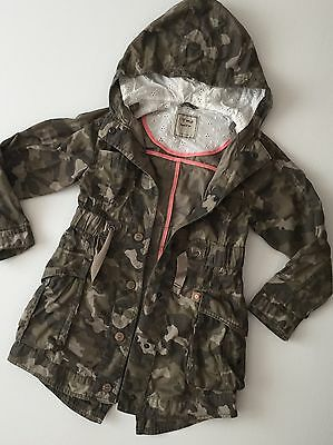 Next Summer Camouflage Parka Jacket Age 7-8 Years Girls