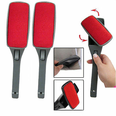 New Lint Fluff Fabric Clothes Dust Brush Pet Hair Remover Dry Cleaner Swivel