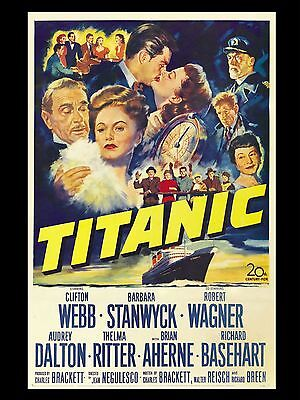 "Titanic 16"" x 12"" Reproduction Movie Poster Photograph"
