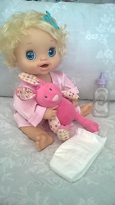 Baby Alive Doll 2010 Hasbro Interactive Talking, Eating Drinking Potty Training