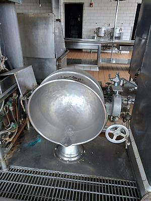 Hubbert 60 Gal Direct Steam Jacketed Stainless Steel Stationary Gas Kettle w Lid