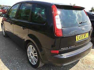 55 Ford Focus C-Max 2.0 Tdci Ghia Black With Cream Leather, Climate, Lovely Car