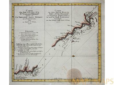 New South Wales - Australian Old map - Captain Cook 1770