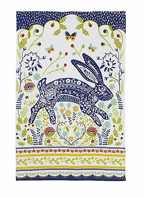 Woodland Hare Cotton Tea Towel by Ulster Weavers