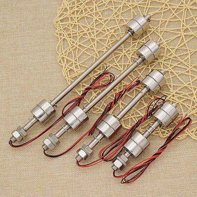 Liquid Water Level Sensor Stainless Steel Double Ball Float Switch Tank Pool