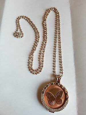 Mi Moneda 925 Silver Rosegold Plated Pendant Holder and 80cm Chain boxed, coin
