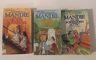 Lot of 3 Mandie Books by Lois Gladys Leppard #1,2,4